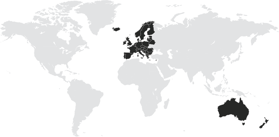 Europe and Pacific Map