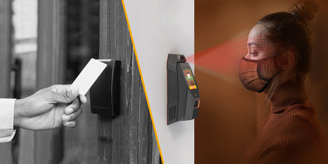 Card Access Control to Facial biometric access control
