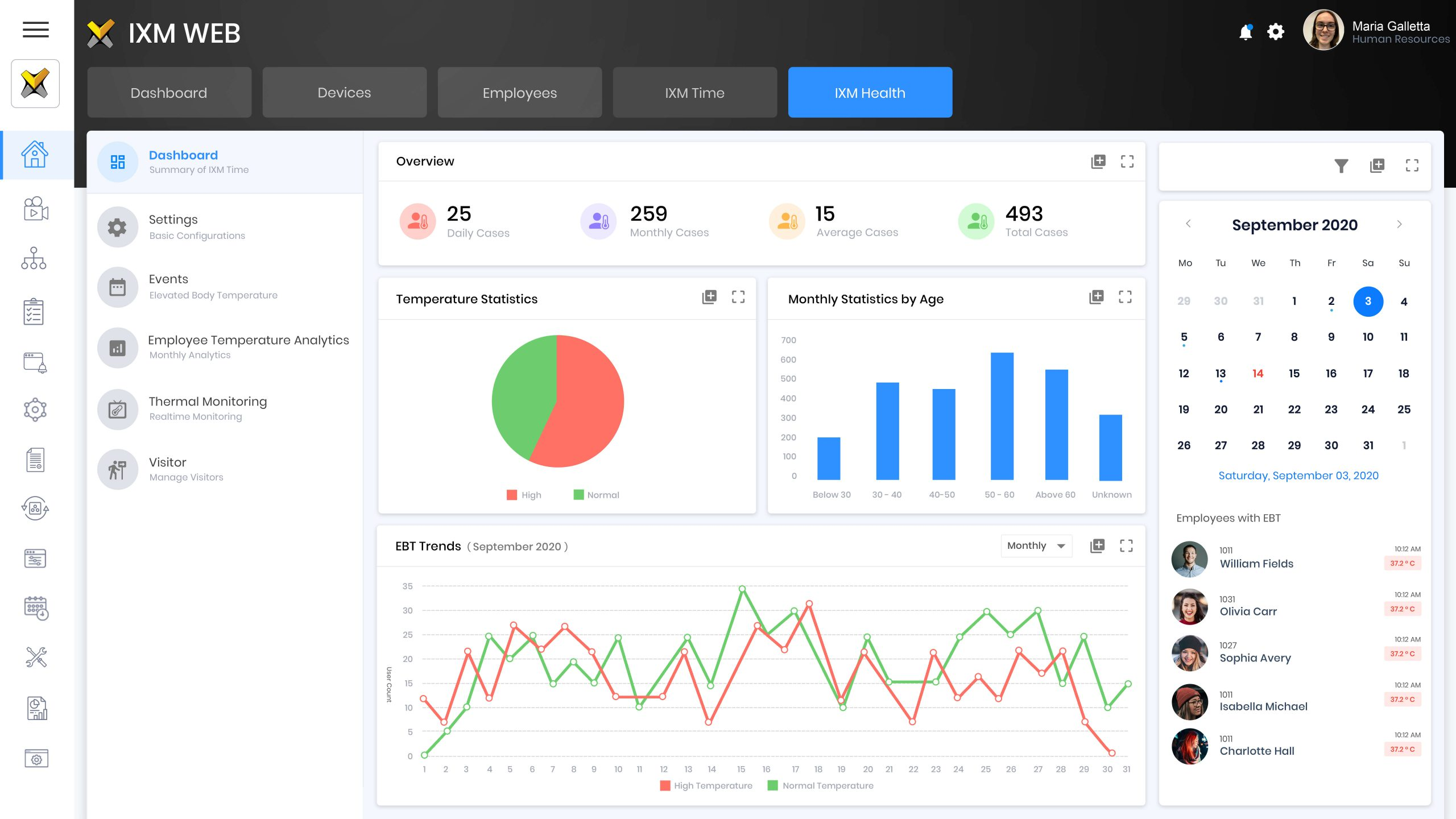 Real Time Health Monitoring Software
