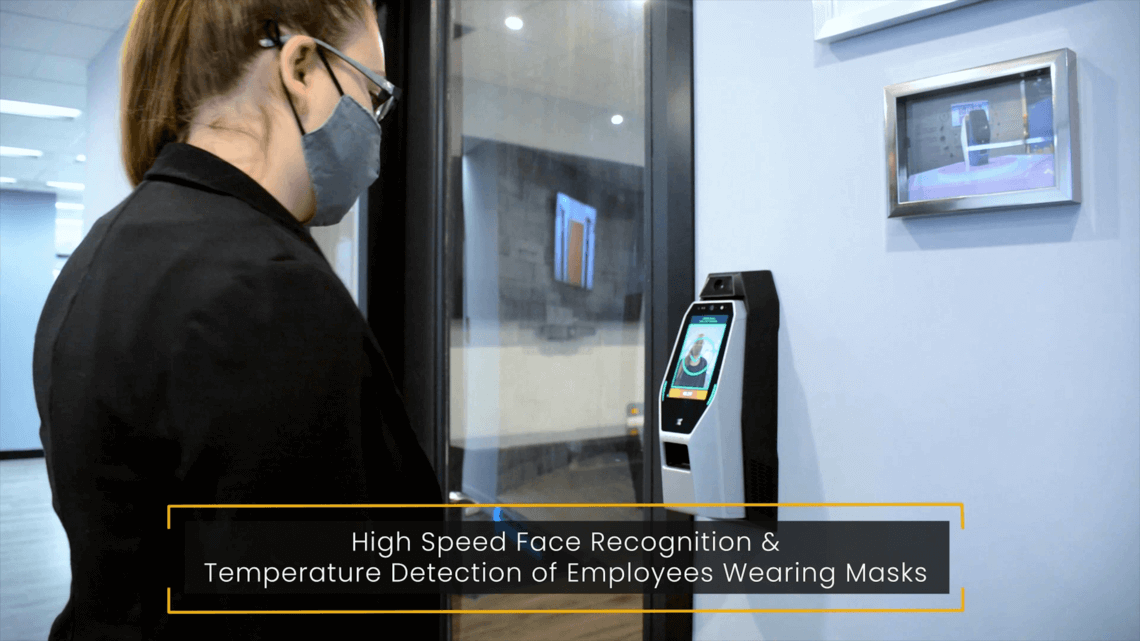 Touchless face recognition while wearing a mask