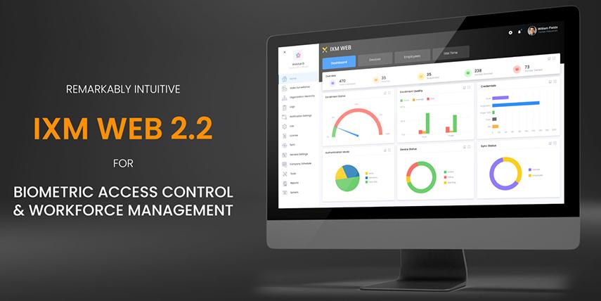 IXM WEB 2.2 Software Dashboard